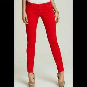 Michael Kors Red Skinny straight leg jeans size 8